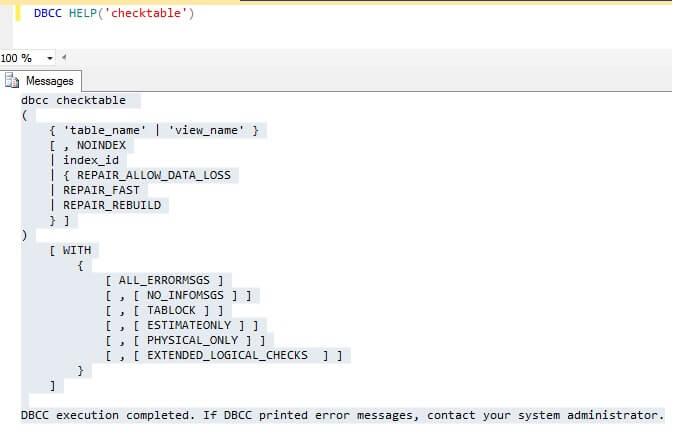 Repair sql table - Rebuild file allocation table ...