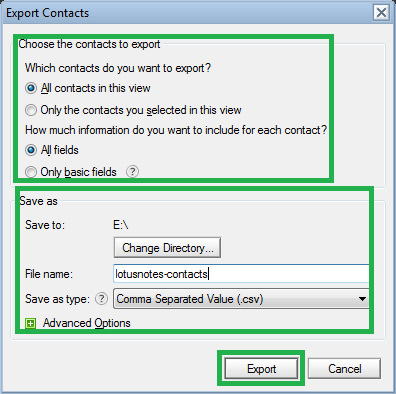 Steps to Import Lotus Notes Contacts and Calendar to Outlook