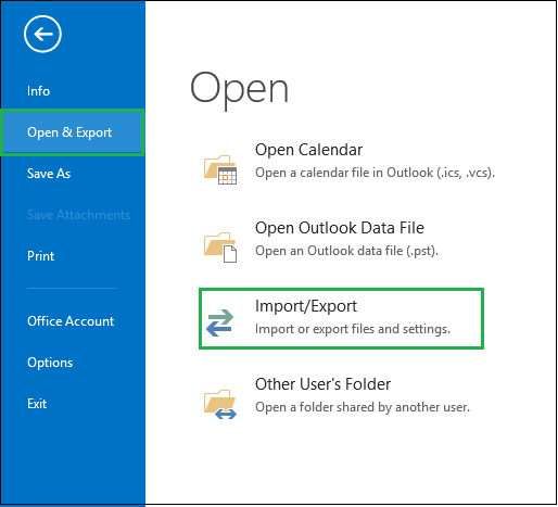 Import Repaired PST File into Microsoft Outlook 2013, 2016 & 2019