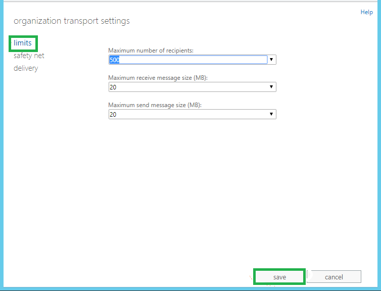 New page namely Organization transport settings will get open
