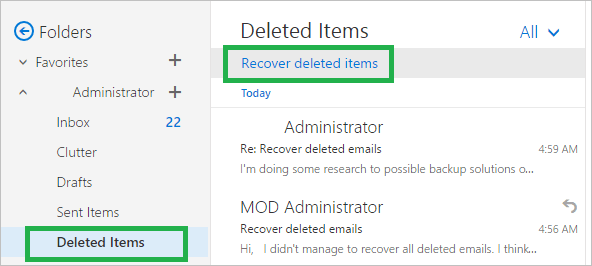 Find old emails in Office 365