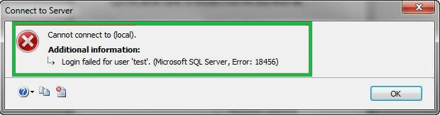 Trying to login on your SQL Server