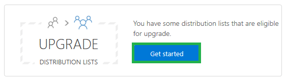 Click on Get started tab to initiate the upgrade process