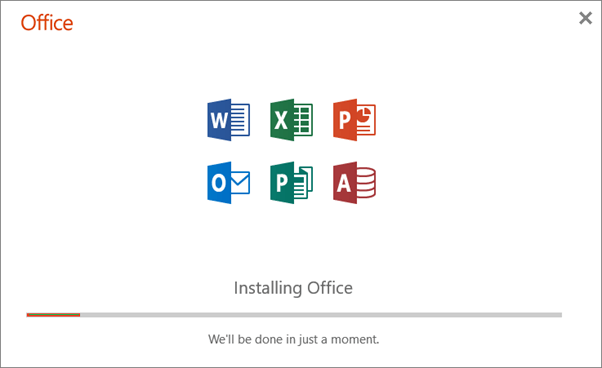 Installation process of Microsoft Office 2019 will get start