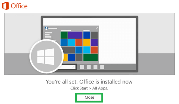 Programs under the installed Microsoft Office