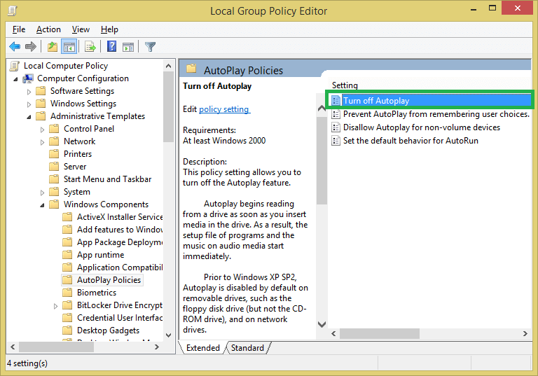 Open Turn off Autoplay option by double-clicking