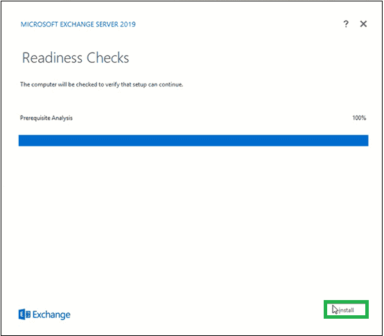 Wait for the completion of Readiness Checks to verify the setup