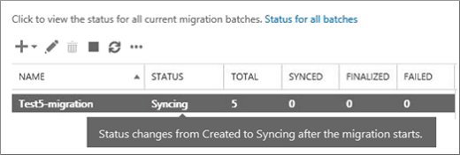 Migration is completed successfully