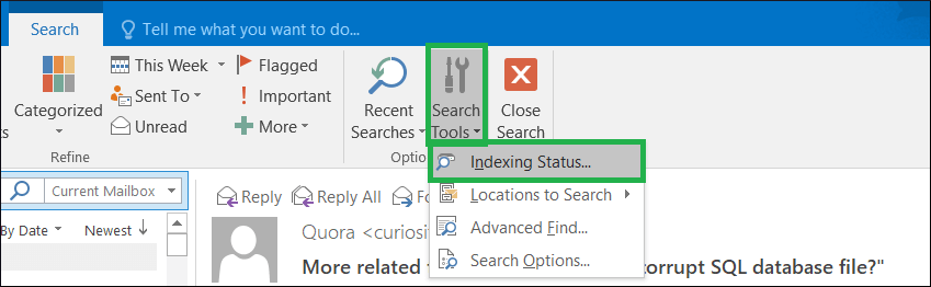 Go to Search Tools and click Indexing Status
