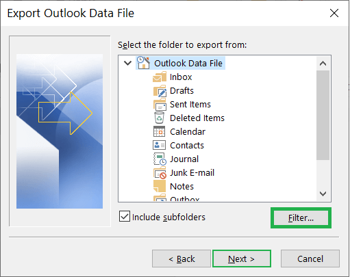 Choose the data more deeply, click the Filter button