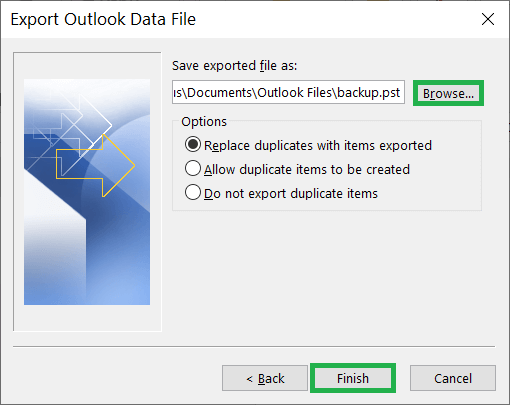 Handle the duplicate items