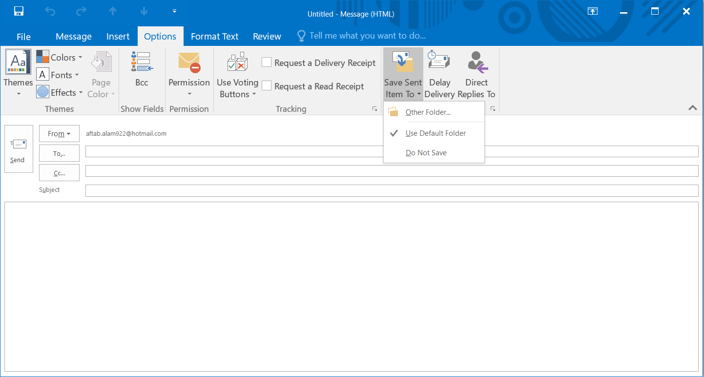 Opening the Message wizard