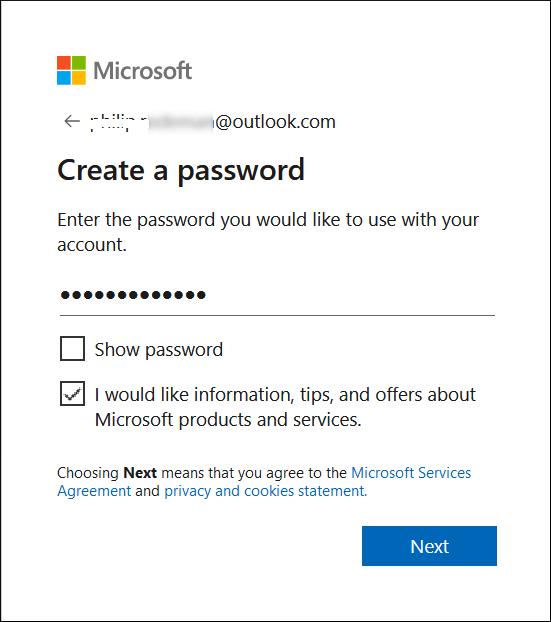 Create a complex password