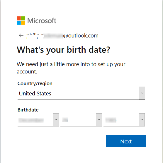 Provide the details of your country and Date of birth