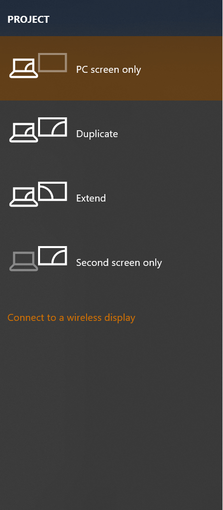 Set the best-suited display