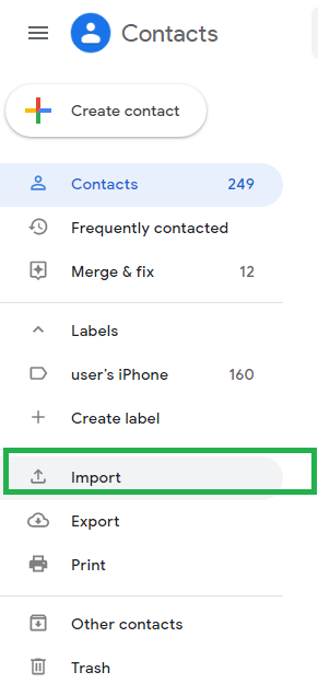 Import/Export feature to export Outlook contacts to a CSV