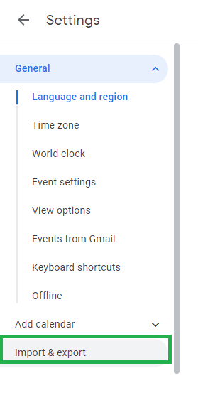 Launch your Google Calendar application