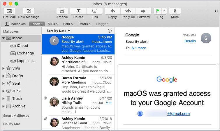 Support emails from the different mail servers