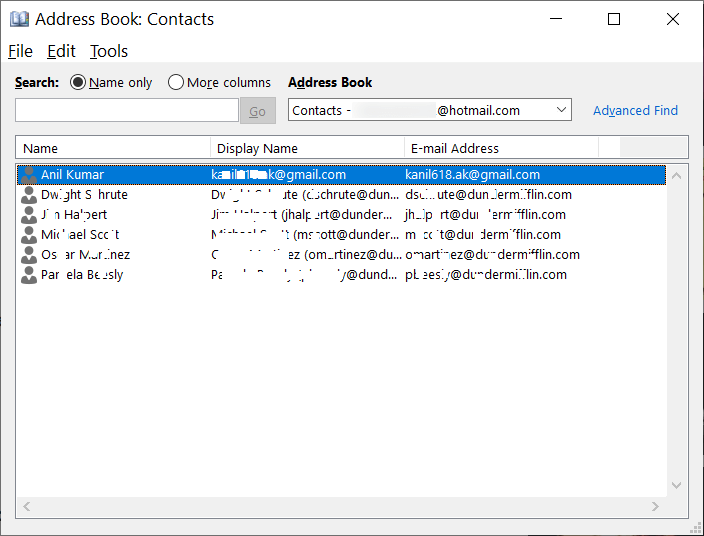 What is Address Book in Outlook?