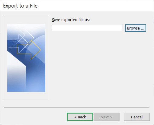 Browse button to choose the CSV file