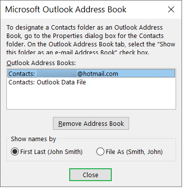 If an Address Book is present, then double-click on