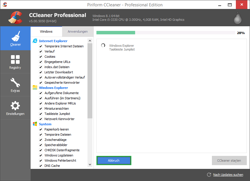 CCleaner is the most reputed file remover software