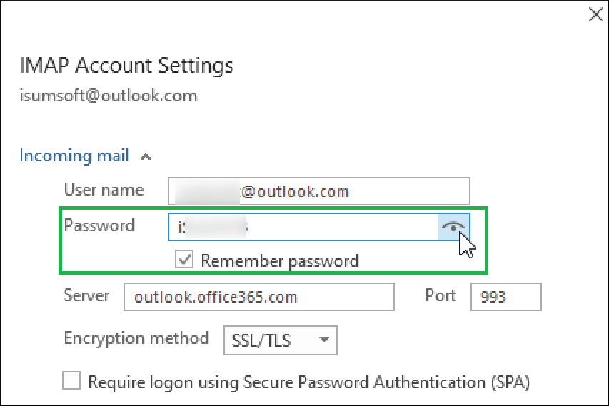 Show you the preview of your password
