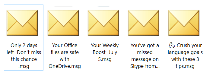 Save emails in MSG format