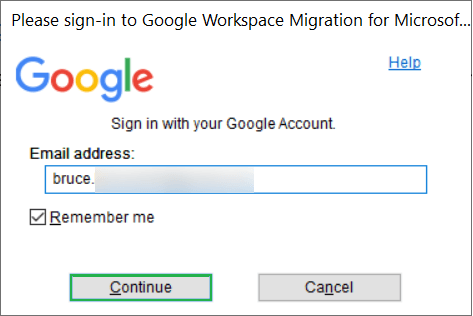 Start the software and input your G Suite account address