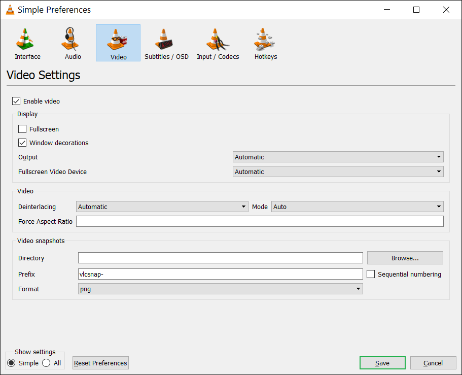 Enable video just the way enabled audio