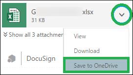 Save a single attachment in OneDrive
