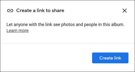 Click Create Link option