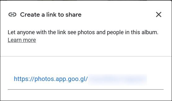 Access Photos in their account by inputting the link in the web browser