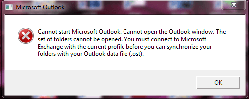 Fix Outlook Error The File OST is not an Offline Folder File