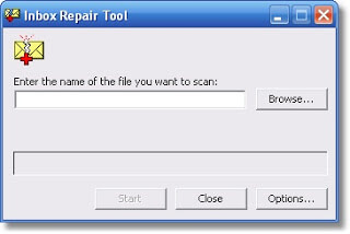 Click the icon of Scanpst.exe application