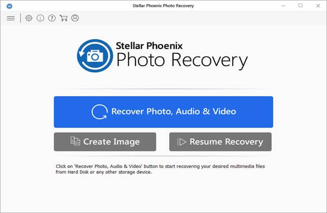 Recover photos, audio and videos