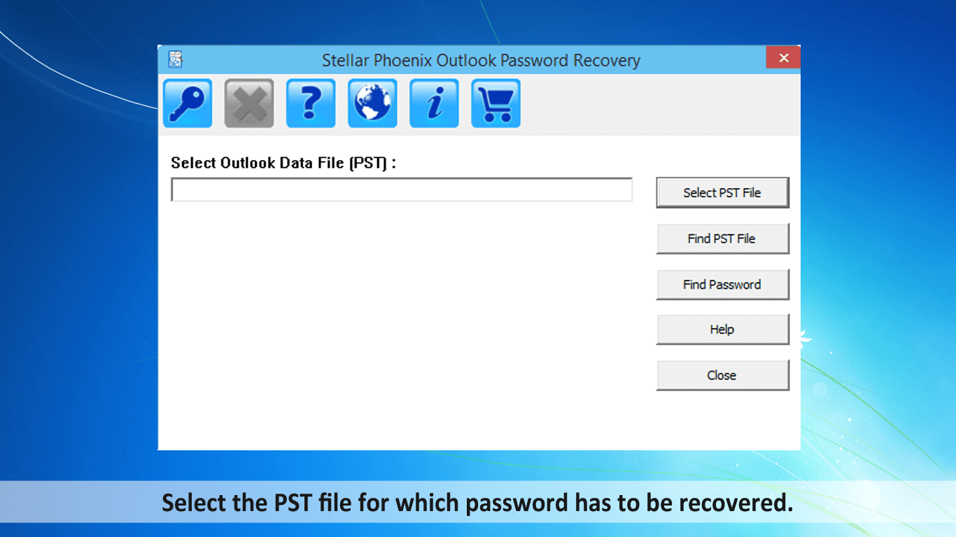 Select PST file to recover